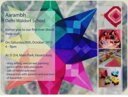 Invitation To Aarambh Diwali Stall On 26th Oct 2013 Aarambh Delhi