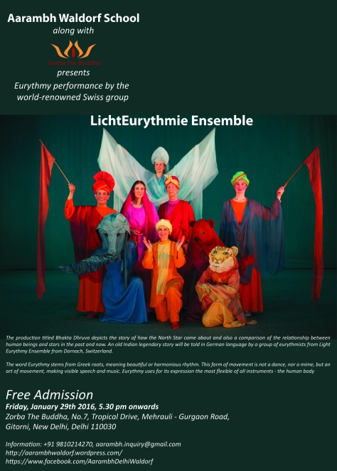 Aarambh Waldorf School along with Zorba the Buddha presents Eurythmy performance by the world-renowned Swiss group